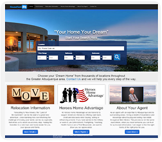 ... Real Estate And Home Search: Visit Live Website · Albuquerque  Industrial Website Designer